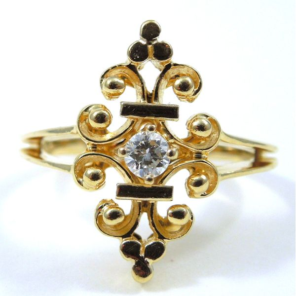 Vintage Inspired Diamond Ring Joint Venture Jewelry Cary, NC