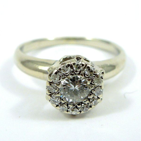 Cluster Diamond Engagement Ring Joint Venture Jewelry Cary, NC
