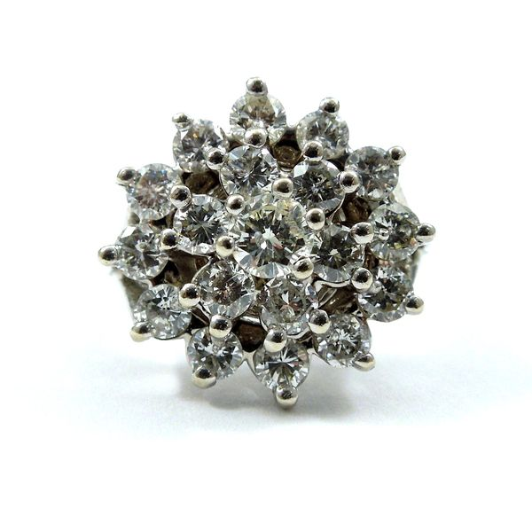 Large Diamond Cluster Ring Joint Venture Jewelry Cary, NC