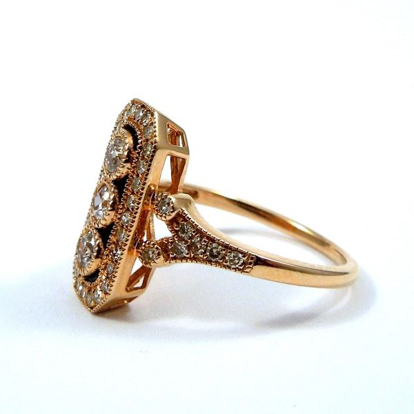 Vintage Inspired Diamond Ring Image 2 Joint Venture Jewelry Cary, NC