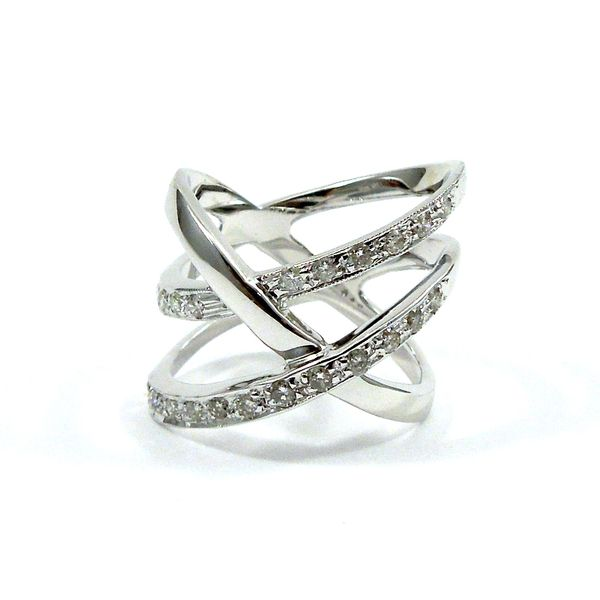 Diamond Cross Over Ring Joint Venture Jewelry Cary, NC