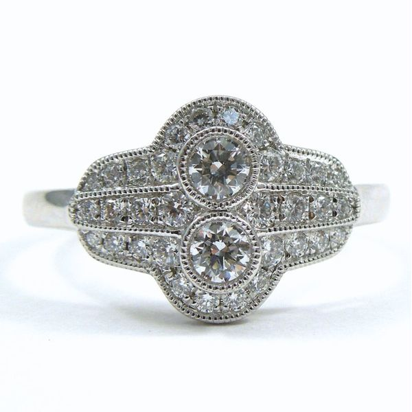 Antique Style Diamond Fashion Ring Joint Venture Jewelry Cary, NC