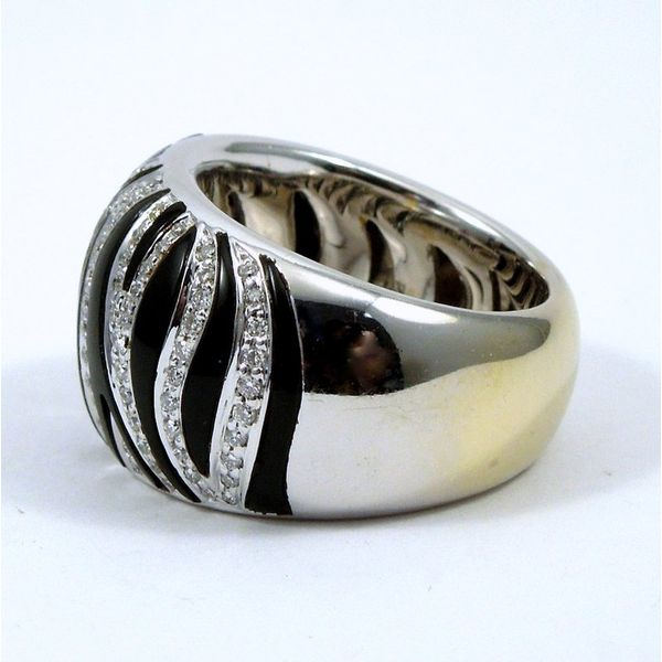 Roberto Coin Onyx and Diamond Ring Image 2 Joint Venture Jewelry Cary, NC