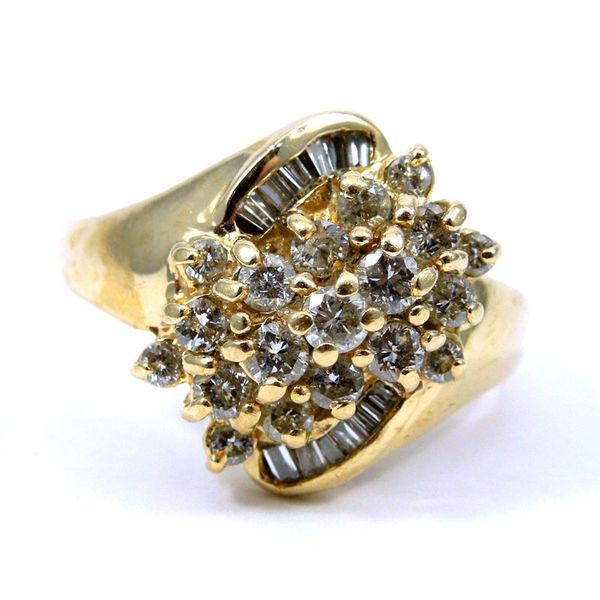 Bypass Diamond Cluster Fashion Ring Joint Venture Jewelry Cary, NC