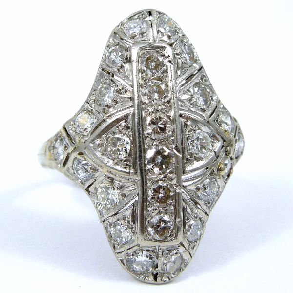 1930s Vintage Diamond Cocktail Ring Joint Venture Jewelry Cary, NC