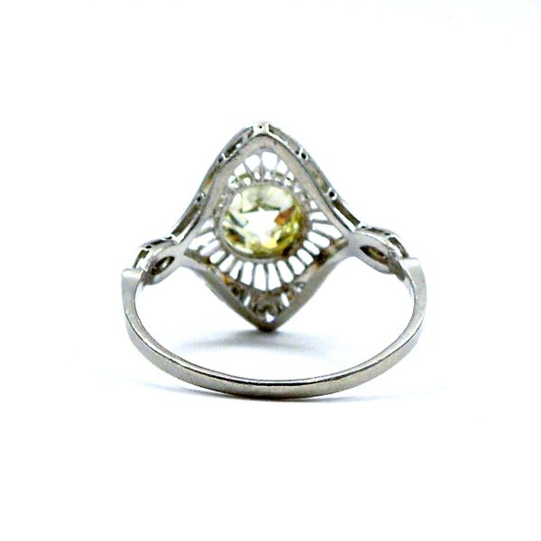 Fancy Yellow Mine Cut Vintage Diamond Ring Image 3 Joint Venture Jewelry Cary, NC