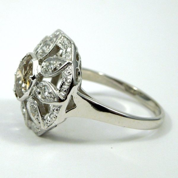 Vintage Fancy Champagne Diamond Ring Image 2 Joint Venture Jewelry Cary, NC