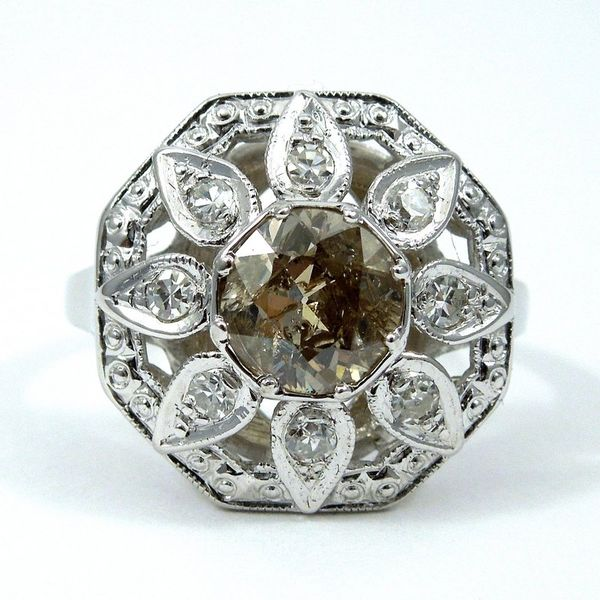 Vintage Fancy Champagne Diamond Ring Joint Venture Jewelry Cary, NC