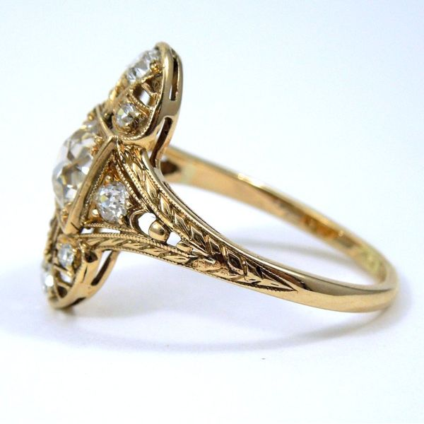 Vintage Diamond Filigree Ring Image 2 Joint Venture Jewelry Cary, NC