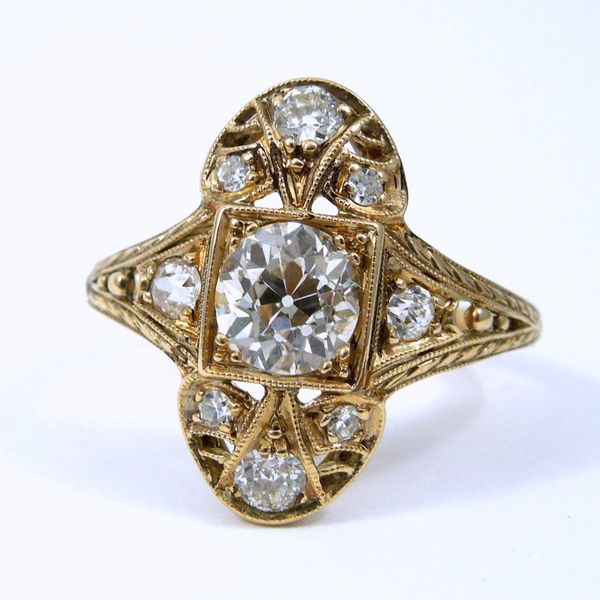 Vintage Diamond Filigree Ring Joint Venture Jewelry Cary, NC