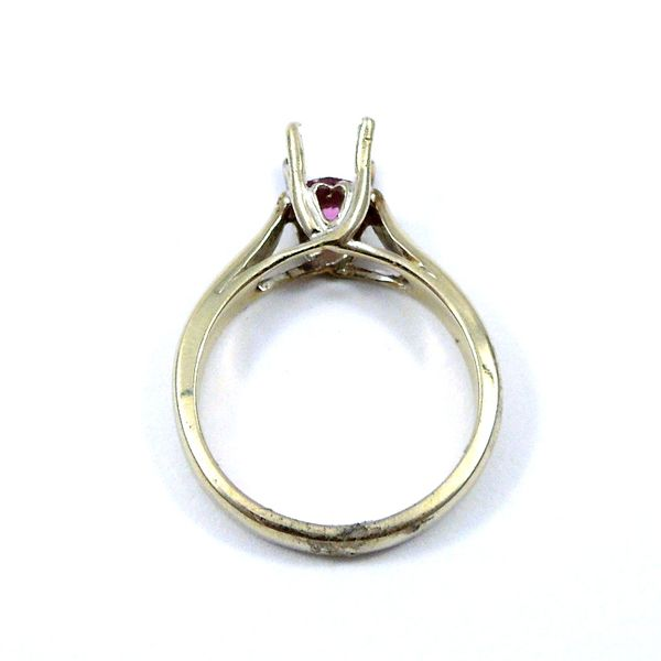 Pink Sapphire Semi-Mount Ring Image 3 Joint Venture Jewelry Cary, NC