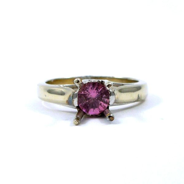 Pink Sapphire Semi-Mount Ring Joint Venture Jewelry Cary, NC