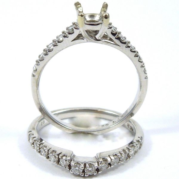 Two Piece Diamond Semi-Mount Set Image 2 Joint Venture Jewelry Cary, NC