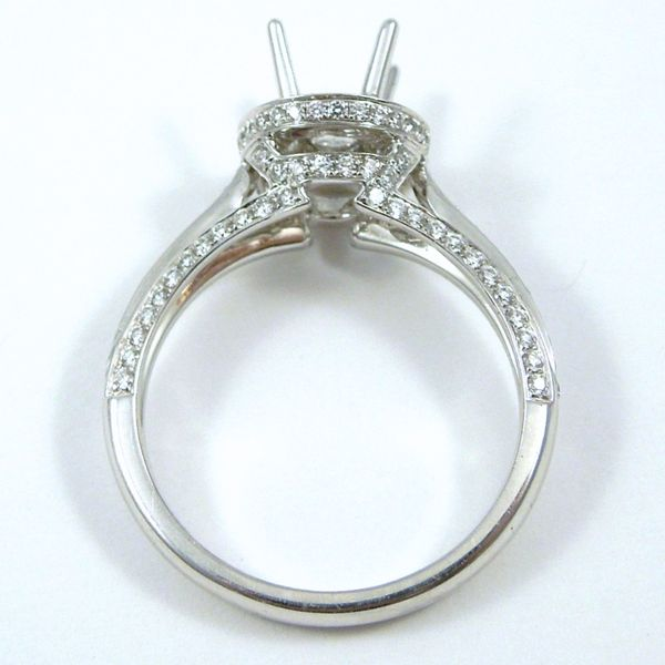 Diamond Halo Style Semi-Mount Ring Image 2 Joint Venture Jewelry Cary, NC