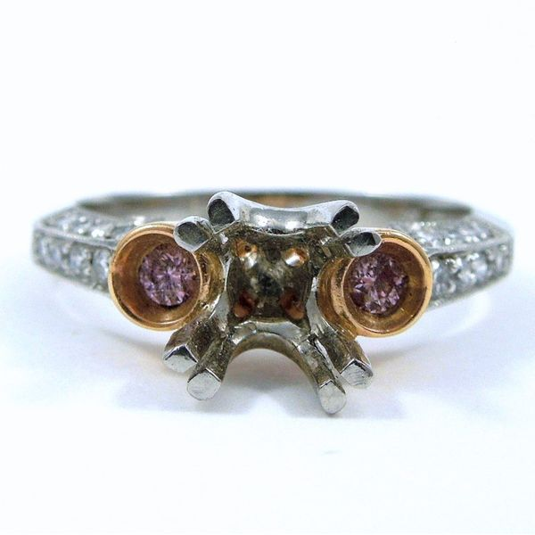 Pink Diamond Semi-Mount Ring Joint Venture Jewelry Cary, NC