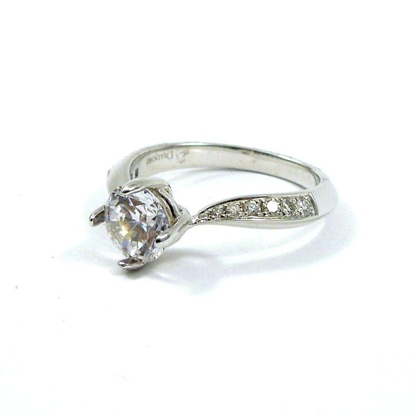 Twisted Diamond Semi-Mount Ring Image 2 Joint Venture Jewelry Cary, NC