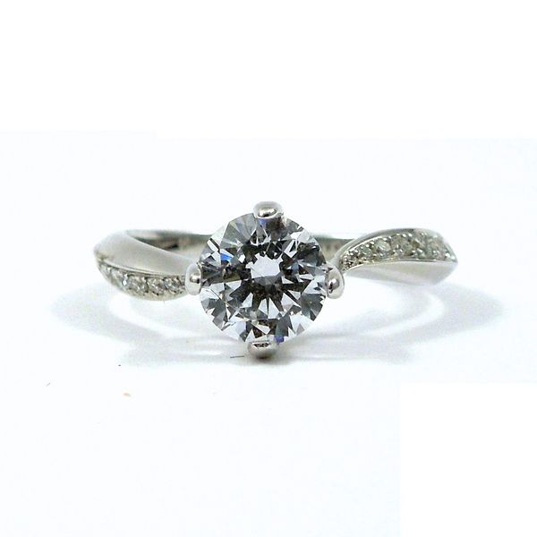 Twisted Diamond Semi-Mount Ring Joint Venture Jewelry Cary, NC