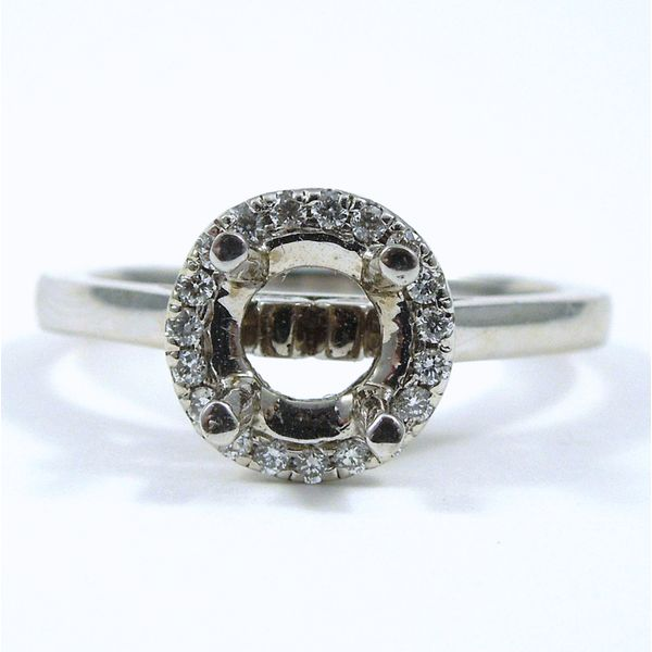 Diamond Halo Semi-Mount Ring Joint Venture Jewelry Cary, NC