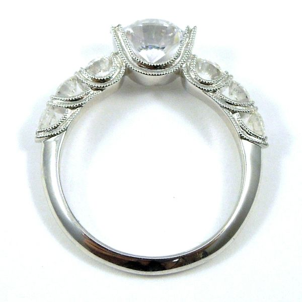 Miligrained Diamond Semi-Mount Ring Image 2 Joint Venture Jewelry Cary, NC