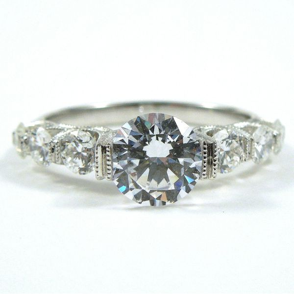 Miligrained Diamond Semi-Mount Ring Joint Venture Jewelry Cary, NC