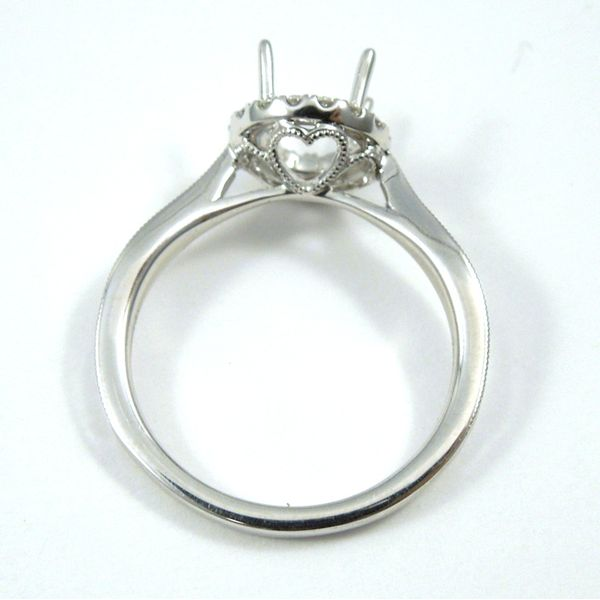 Halo Semi-Mount Ring Image 2 Joint Venture Jewelry Cary, NC