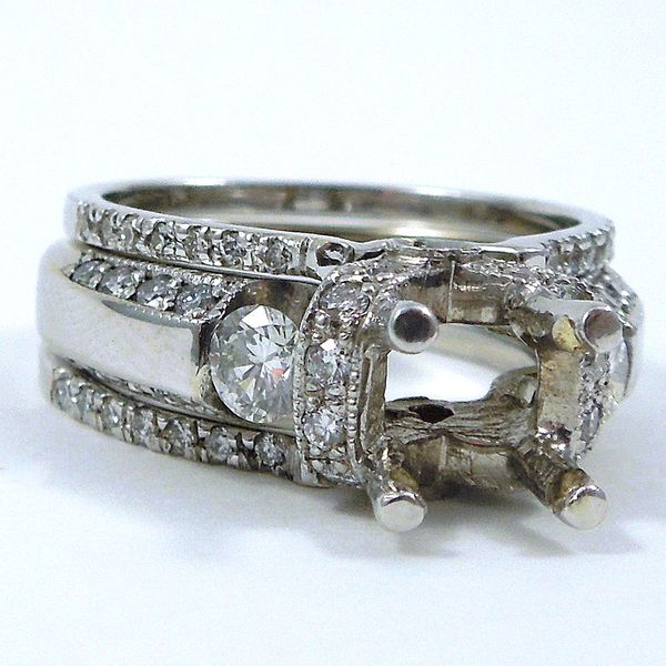 Diamond Engagement Semi-Mount Set Joint Venture Jewelry Cary, NC