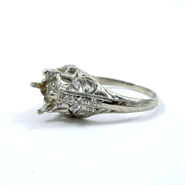Vintage Semi-Mount Ring Image 2 Joint Venture Jewelry Cary, NC