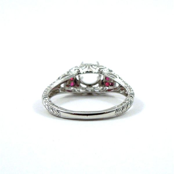 Semi-Mount Ring with Ruby Accents Image 4 Joint Venture Jewelry Cary, NC