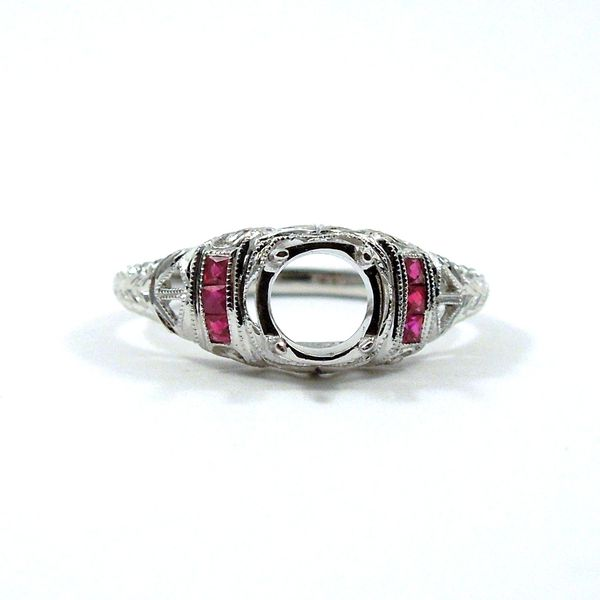 Semi-Mount Ring with Ruby Accents Joint Venture Jewelry Cary, NC