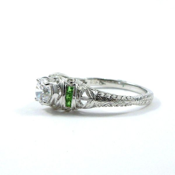Semi-Mount Ring with Tsavorite Garnet Accents Image 2 Joint Venture Jewelry Cary, NC