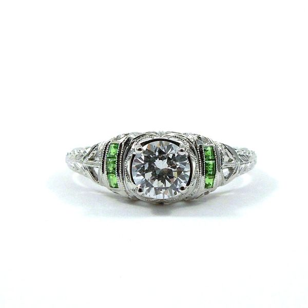 Semi-Mount Ring with Tsavorite Garnet Accents Joint Venture Jewelry Cary, NC