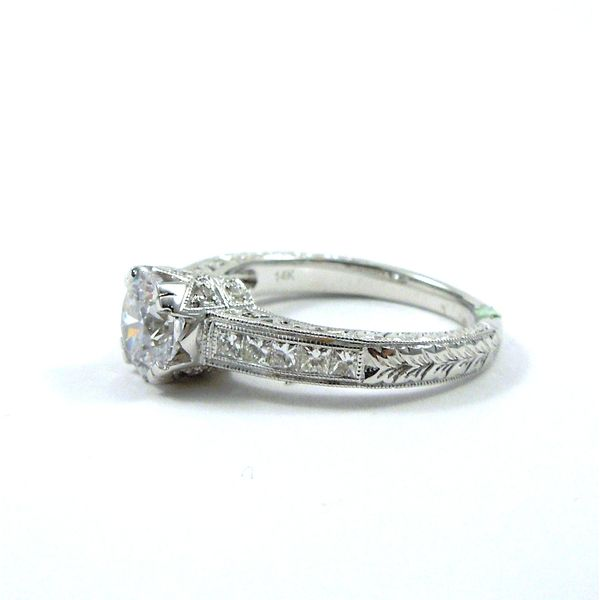 Diamond Accented Semi-Mount Engagement Ring Image 2 Joint Venture Jewelry Cary, NC