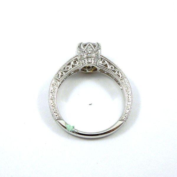 Diamond Accented Semi-Mount Engagement Ring Image 3 Joint Venture Jewelry Cary, NC