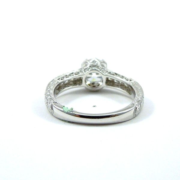 Diamond Accented Semi-Mount Engagement Ring Image 4 Joint Venture Jewelry Cary, NC