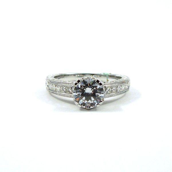 Diamond Accented Semi-Mount Engagement Ring Joint Venture Jewelry Cary, NC