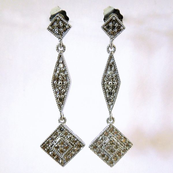 Diamond Drop Earrings Joint Venture Jewelry Cary, NC