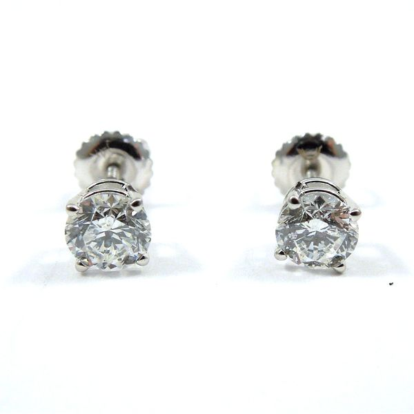 Diamond Stud Earrings Image 2 Joint Venture Jewelry Cary, NC