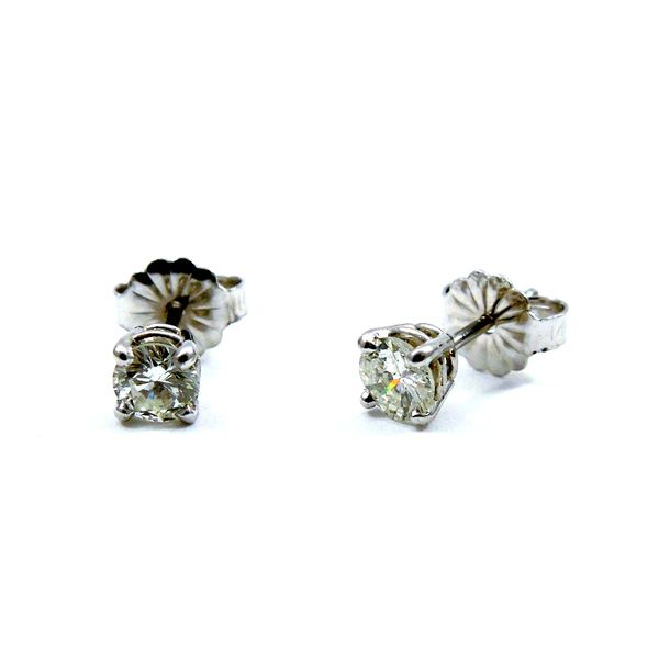 Diamond Stud Earrings Image 3 Joint Venture Jewelry Cary, NC