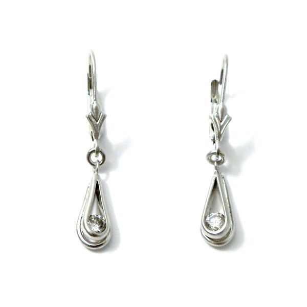 Diamond Dangle Earrings Joint Venture Jewelry Cary, NC