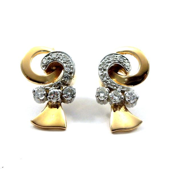 Retro Diamond Earrings Joint Venture Jewelry Cary, NC