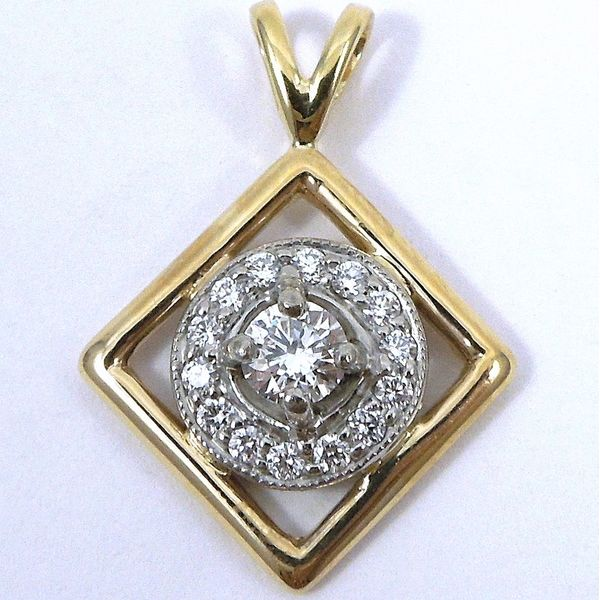 Two Tone Diamond Pendant Joint Venture Jewelry Cary, NC