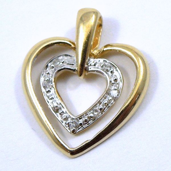 Double Heart Diamond Pendant Joint Venture Jewelry Cary, NC