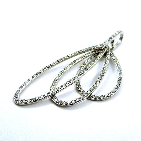 Three Diamond Oval Shaped Rings Pendant Image 2 Joint Venture Jewelry Cary, NC