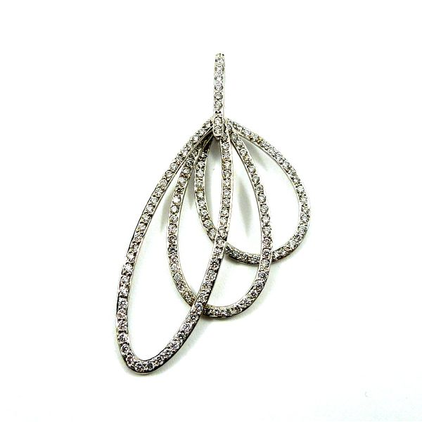 Three Diamond Oval Shaped Rings Pendant Joint Venture Jewelry Cary, NC