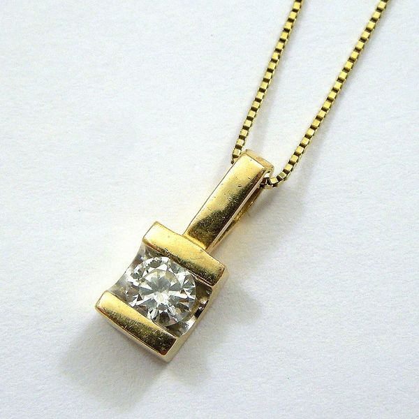 Classic Diamond Pendant Joint Venture Jewelry Cary, NC
