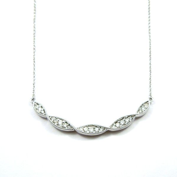 Five Station Diamond Necklace Image 2 Joint Venture Jewelry Cary, NC