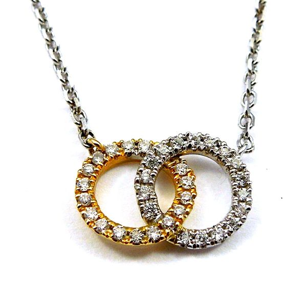 Linked Circle Diamond Necklace Image 2 Joint Venture Jewelry Cary, NC