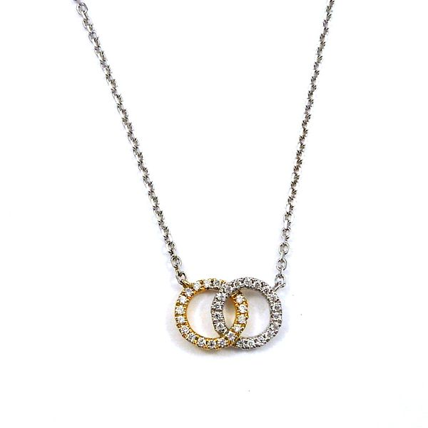 Linked Circle Diamond Necklace Joint Venture Jewelry Cary, NC