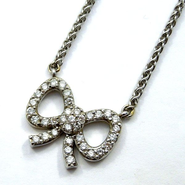 Diamond Bow Necklace Joint Venture Jewelry Cary, NC