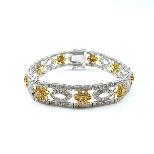 Two Tone Diamond Bracelet Joint Venture Jewelry Cary, NC